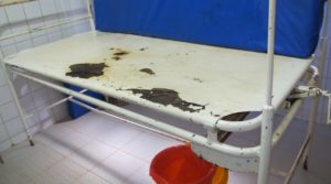Rusted delivery bed in need of replacing