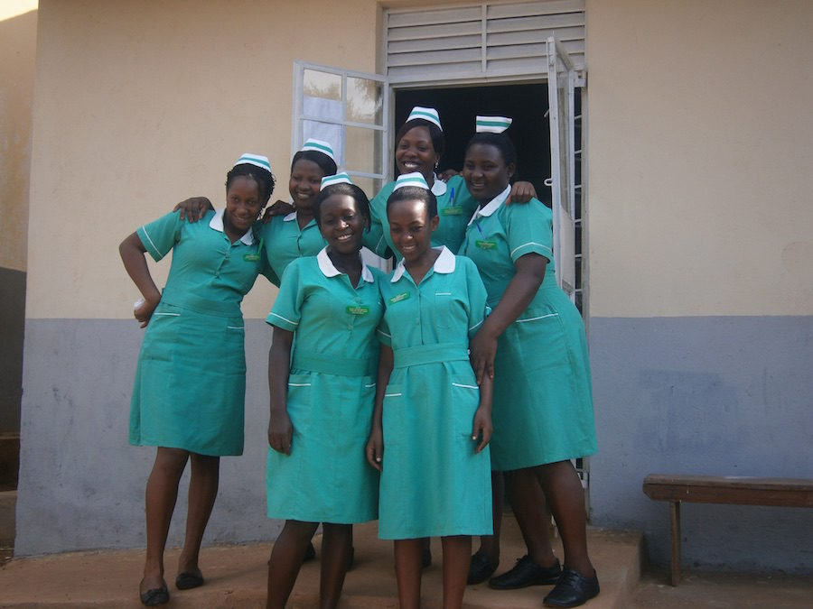 Midwifery students from Hoima School of Nursing & Midwifery