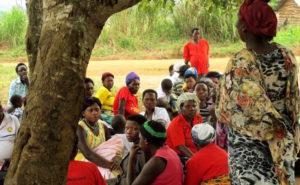 Sexual health talk under a tree