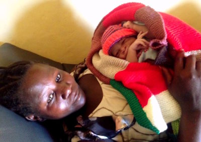 First baby delivered in Runga Maternity Clinic