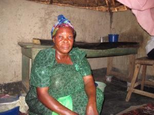 Runga Justine the Traditional Birth Attendant's hut