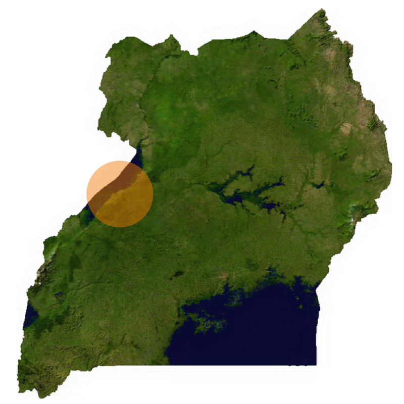 Hoima on map