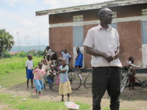 Simon the Builder in Tonya. Simon oversaw the refurbishment of the health centre in Tonya and he also built our Volunteer's house in Hoima