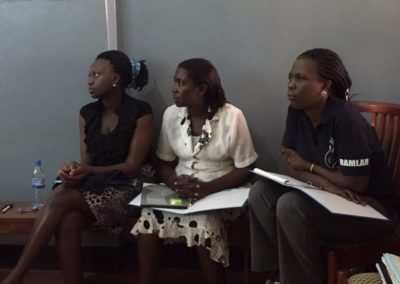 Midwives studying at training